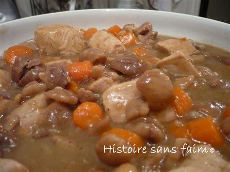 cuisiner blanc de dinde sauté de dinde aux marrons et carottes histoire sans faim