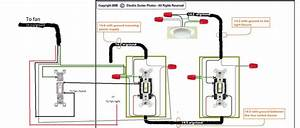 Wiring A Ceiling Fan With Two Switches Diagram