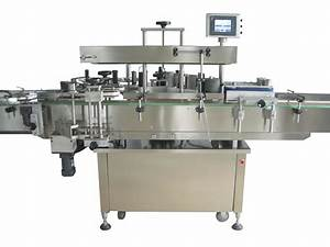 double side round bottle sticker labeling machine With bottle labler