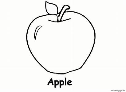 Apple Coloring Pages Printable Fruit Apples Worksheets