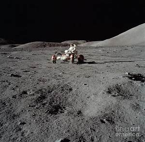 Apollo 17 Astronaut Driving The Lunar Photograph by ...