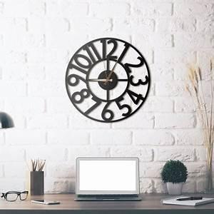 Horloge En Metal : horloge mural en m tal hanlin packtoo ~ Teatrodelosmanantiales.com Idées de Décoration
