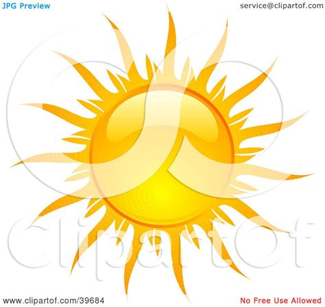 Clipart Illustration of a Bright And Shiny Orange And ...