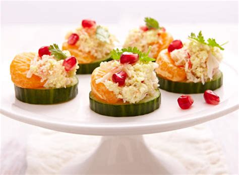 canape hors d oeuvres ricotta crab canapés recipe dairy goodness