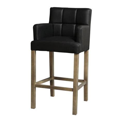 chaise de bar noir chaise de bar haute kyo noir accoudoirs mobilier