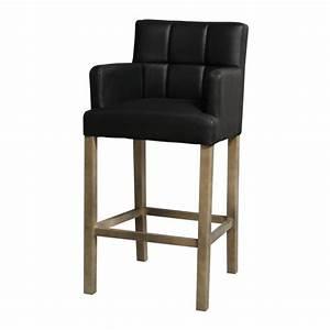 Chaise De Bar Haute : chaise de bar haute kyo noir accoudoirs mobilier ~ Teatrodelosmanantiales.com Idées de Décoration