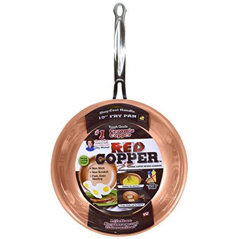 red copper   pan  bulbhead ceramic copper infused