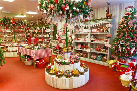 cute  christmas shop full  decorations hd