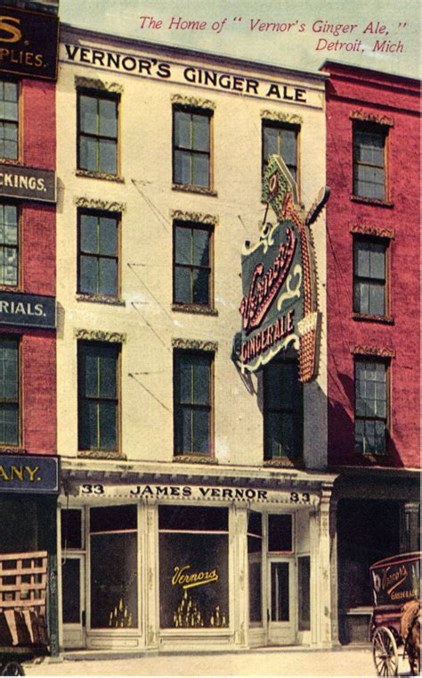 detroit vernors vernor ale postcard ginger historical society michigan soda history 1900 mich drink circa woodward mlive storefront located shows