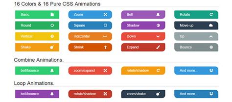 html style color 8 modern flat css buttons web graphic design on bashooka