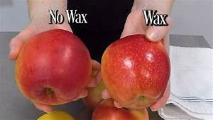 How To Clean Wax Off Apples - YouTube