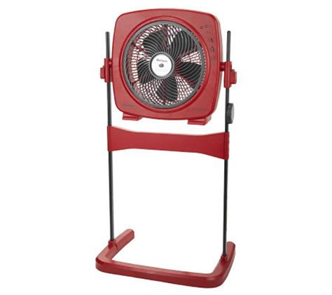 Holmes Blizzard Adjustable Stand Fan W Rotating Grill And