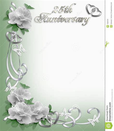 25th Anniversary Invitation Border Stock Illustration
