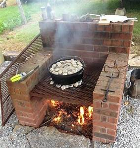 Barbecue En Dur : 1001 id es garden pinterest barbecue brique ~ Melissatoandfro.com Idées de Décoration