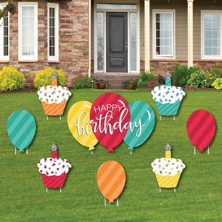 15 fantastic balloon décor ideas you wont miss backdrop ideas. Colorful Happy Birthday - Cupcake & Balloon Yard Sign & Outdoor Lawn Decorations - Birthday Yard ...