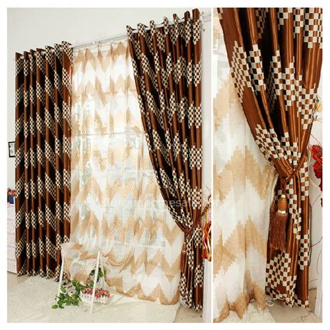 brown plaid quality 2014 new blackout curtains drapes