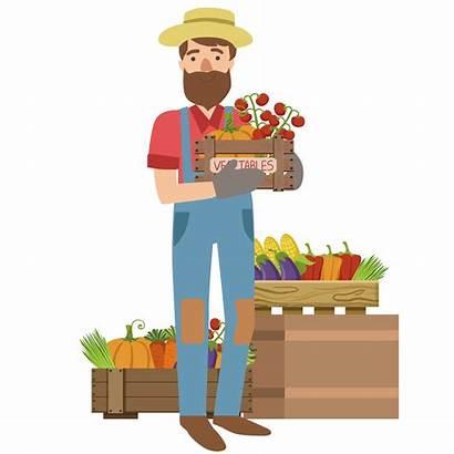 Farmer Clipart Vegetable Vegetables Farm Selling Animated