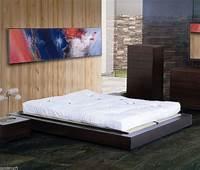 japanese style bed frame Asian Platform Bed Frame Bedroom Wood Furniture Multi Size Japanese Style Decor | eBay