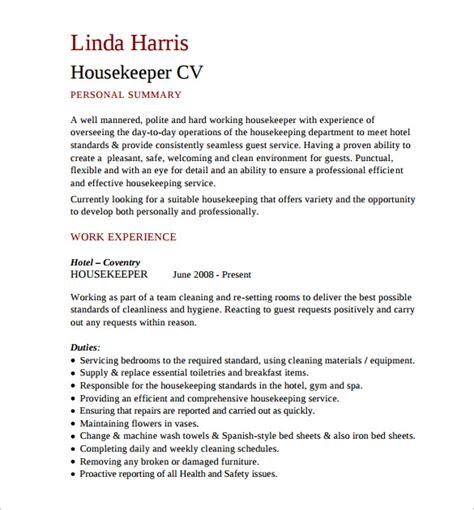 housekeeping resume format pdf sle housekeeping resume 11 documents in pdf word