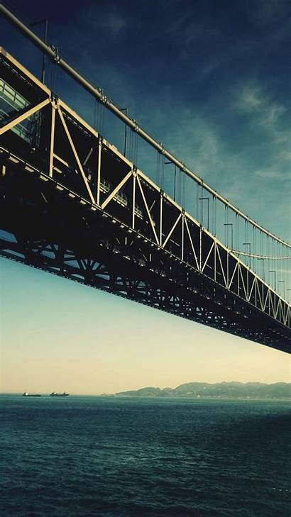 Architecture Bridge Iphone Android Wallpapers Water Steel