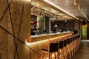 Mid Century Modern Lighting Modern Concrete Restaurant Yunakov Architects