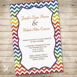 wish cards for wedding rainbow colors chevron wedding invitations iwi300