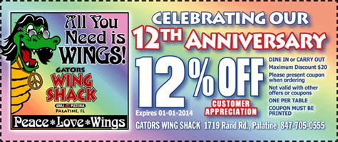 gators wing shack voted chicagos  wings coupons