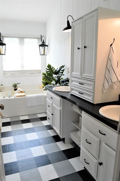 vinyl flooring for bathrooms ideas painted vinyl linoleum floor makeover ideas fox hollow