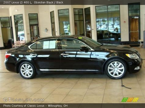 black lexus 2007 obsidian black 2007 lexus ls 460 l black interior