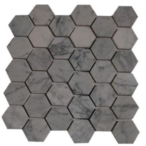 home depot hexagon marble tile greecian white hexagon back splash studio design