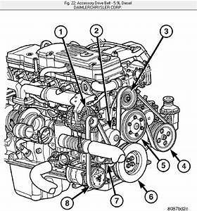 Need Diagram For 2004 1  2 For Serpentine Belt  Diesel  No Diagram In Hood Compartment  Not Sure