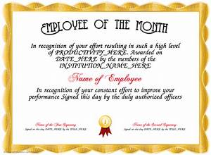 employee of the month here is our free certificate for With employee recognition certificates templates free