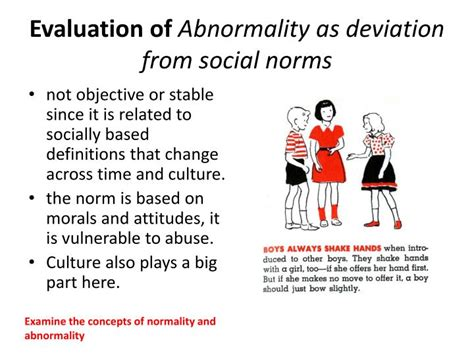 examine  concepts  normality  abnormality