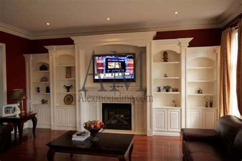 build  wall tv entertainment units custom bookcases