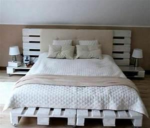 Idee De Tete De Lit : comment faire un lit en palette 52 id es ne pas manquer ~ Teatrodelosmanantiales.com Idées de Décoration