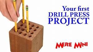 Drill press pencil holder Mere Mini - YouTube