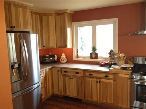 kraftmaid mission hickory kitchen traditional