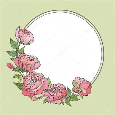 Marco de flores Fondo vintage floral Vector de stock