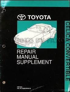 1995 Toyota Celica Convertible Repair Shop Manual Original