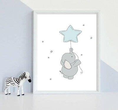 Kinderzimmer Poster Jungen by Elefant Poster Bild Leinwand Kunstdruck Kinder Junge