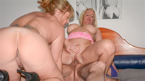 Xxx Omas Uninhibited Mature German Blondies Share Cock In