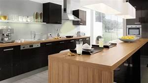 cuisine ikea noir et bois With cuisine noire et bois