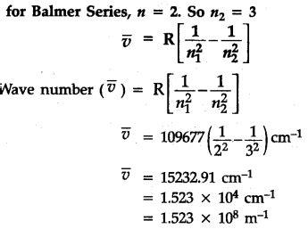 calculate  wave number   longest wavelength