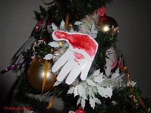 Pere Noel Decoration : nos d corations de no l en empreintes de mains dada et au dodo ~ Melissatoandfro.com Idées de Décoration