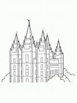 Temple Salt Lake Lds Coloring Primary Pages Clipart Drawing Line Temples Utah Outline Printable Mormon Sheets Library George St Lakes sketch template