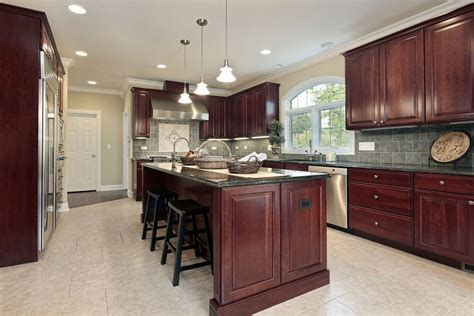 """Freshly planed cherry when freshly planed, the heartwood is light pink and the sapwood is a light cream color. 43 """"New and Spacious"""" Darker Wood Kitchen Designs & Layouts"""
