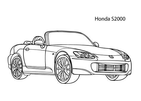 Kleurplaat Honda Civic Type R kleurplaat honda civic type r artismonline nl