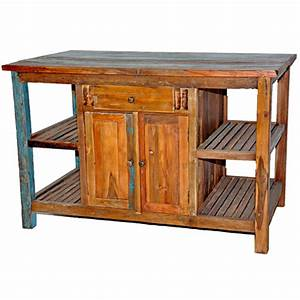 Large Rustic Kitchen Island - Brown's Furniture Showplace