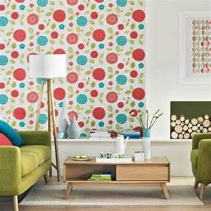 Verspielter Floraler Design Stil : wohnzimmergestaltung ideen im retro stil ~ Watch28wear.com Haus und Dekorationen