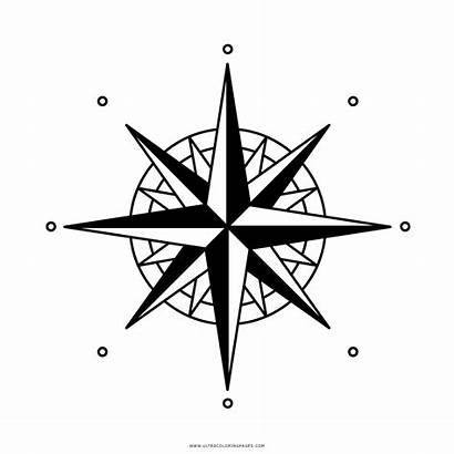 Compass Rosa Venti Rose Dos Outline Dei
